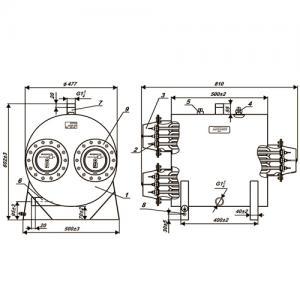 Устройство ЭПО 84 электрический котел ЭВАН (3 фланца, 3 ступени мощности 30/30/24 кВт)