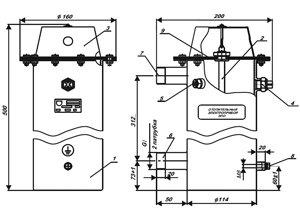 Схема электрического котла ЭВАН ЭПО-9,45 220В