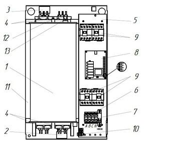 Устройство электрического котла ЭВАН Universal-54